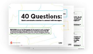 40 Questions Print Image