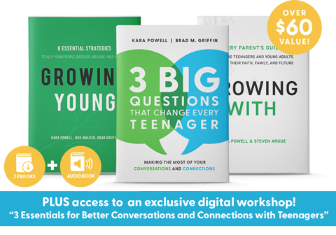 3 Big Questions That Change Every Teenager Book Bundle with Growing Young and Growing With Book plus access to an exclusive digital workshop